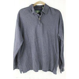 ORVIS L FISHERMAN Sweater Cotton Pullover Blue
